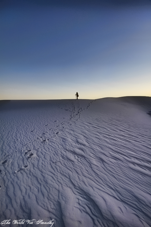 white sands, new mexico, dunes, worldviastandby, alone in the desert