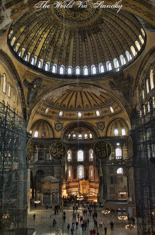 istanbul, hagia sophia, hagia sophia interior, turkey, worldviastandby