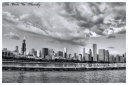 chicago skyline, bw chicago,