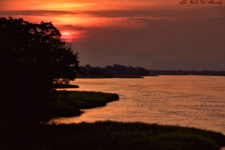 nile, nile river, africa, uganda, sunset